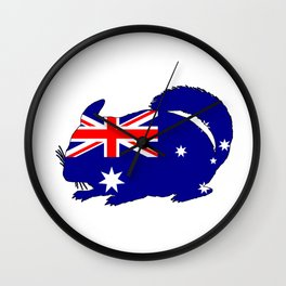 Australian Flag - Chinchilla Wall Clock