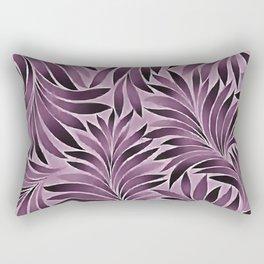 Beautiful Leaves in Aubergine Purple Rectangular Pillow
