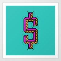hustle Art Prints featuring Hustle by Justin Rentzel