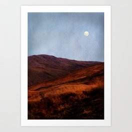 Moon Over Rannoch Art Print