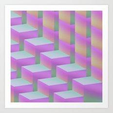 Fade Cubes II Art Print