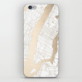 New York City White on Gold iPhone Skin