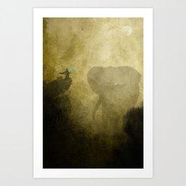Elephant Caller Art Print