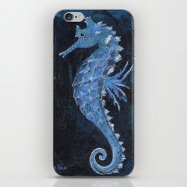 Blue Seahorse iPhone Skin