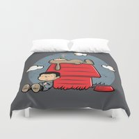 best friend Duvet Covers featuring Man's best friend by Hoborobo