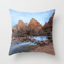Virgin_River Falls - Zion Court Throw Pillow