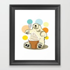 Polar bear's summer time Framed Art Print
