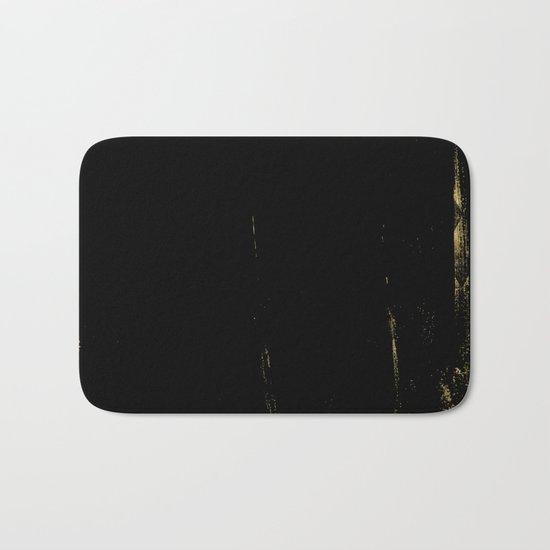 Black and Gold grunge modern abstract backround I Bath Mat