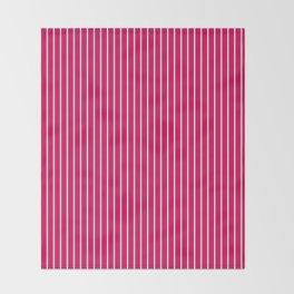 1Red- crimson striped Throw Blanket