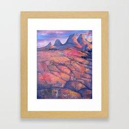 Red Rocks Sunset  Framed Art Print
