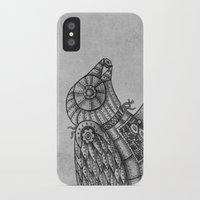 clockwork iPhone & iPod Cases featuring Clockwork Bird  by Terry Fan