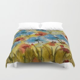 Flowers (watercolor) Duvet Cover