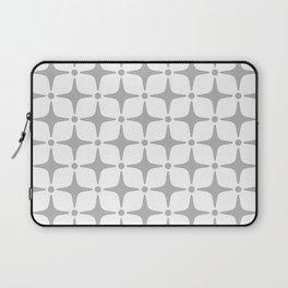 Mid Century Modern Star Pattern Gray Laptop Sleeve