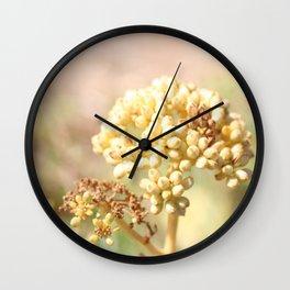 sand succulent flower in autumn Wall Clock