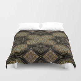 Victorian Art Deco Medieval Pattern brown SB24 Duvet Cover