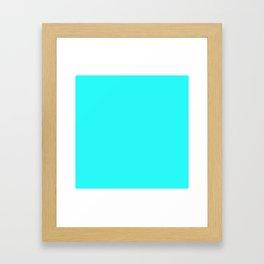 Neon . Turquoise Framed Art Print