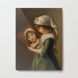 Elisabeth Louise Vigée Le Brun - Looking in a Mirror Metal Print