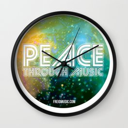 Peace Through Music Wall Clock