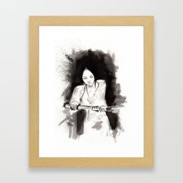 Derrotar al enemigo (Sketch version) Framed Art Print