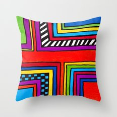 3 O'clock RoadBlock Throw Pillow
