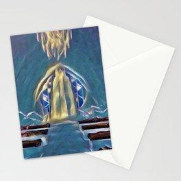 Sweden Ice Hotel Artistic Illustration Frozen Style Stationery Cards