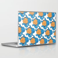 squirtle Laptop & iPad Skins featuring  1 Squirtle, 2 Squirtle, 3 Squirtle, 4 by pkarnold + The Cult Print Shop
