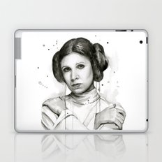 Princess Leia Watercolor Carrie Fisher Portrait Laptop & iPad Skin