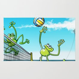 Olympic Volleyball Frog Rug