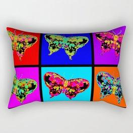 Psychedelic Butterflies Mosaic Rectangular Pillow
