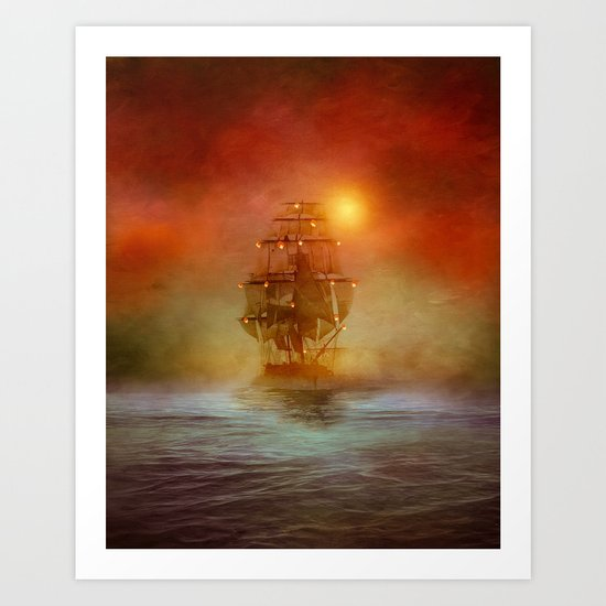 The lights (colour option) Art Print