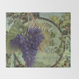 Wines of France Merlot Throw Blanket