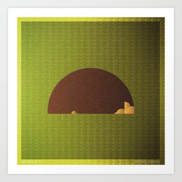Music in Monogeometry : Modest Mouse Art Print