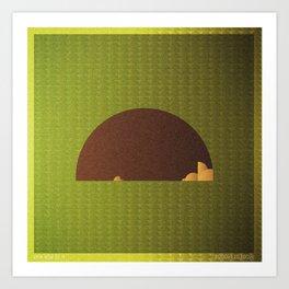 Music in Monogeometry : Modest Mouse Art Print