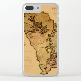 Map Of Dominica 1776 Clear iPhone Case