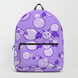 Bubbles and Bats Purple Backpack