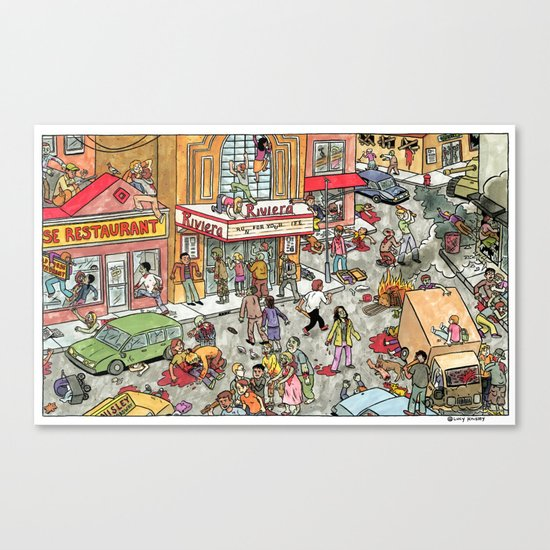 Zombies at The Riviera Canvas Print