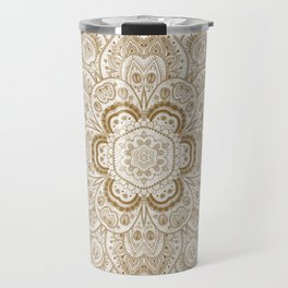 Mandala Temptation in Cream Travel Mug