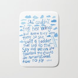 She couldn't feel her wings but knew they were there... Bath Mat