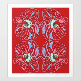 Bright orchid mirrored Art Print