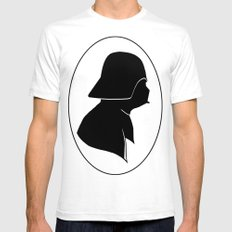 Dark Side Silhouette  Mens Fitted Tee White SMALL