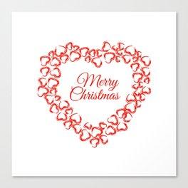 Christmas Heart Wreath Canvas Print