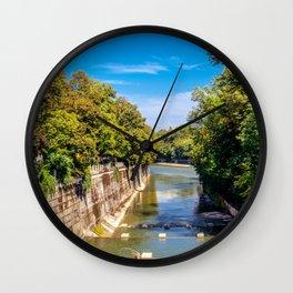 DE - Bavaria : Isar canal Wall Clock