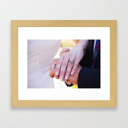 Hands. Framed Art Print
