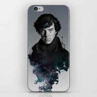 artgerm iPhone & iPod Skins featuring The Excellent Mind by Artgerm™