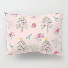 Christmas Pattern Pink Pillow Sham