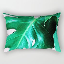 Cheese Plant Leaves Rectangular Pillow