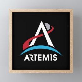 NASA Artemis Program Logo Mars 2024 Space Astronaut Framed Mini Art Print
