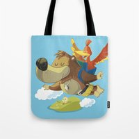 banjo Tote Bags featuring Banjo by Rod Perich