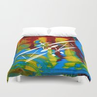 airplane Duvet Covers featuring Airplane by Lue Brentwood