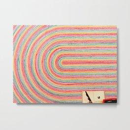 Curve Crayon Metal Print